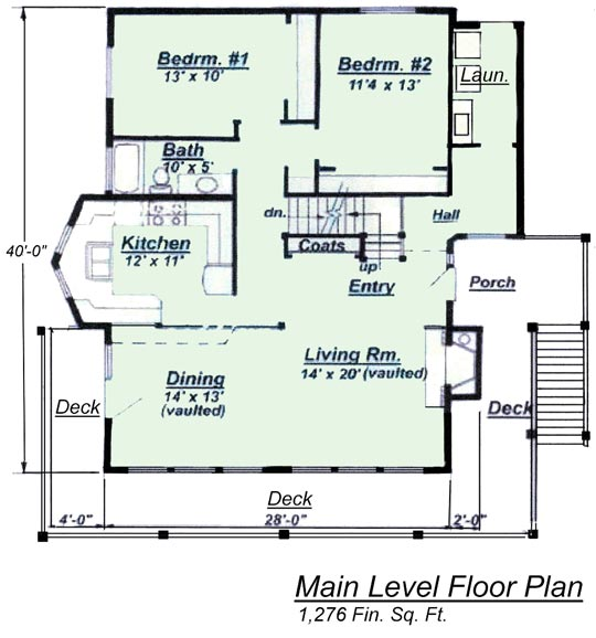 Chalet House Plan Model C 511 Lower Floor Plan from Creative House